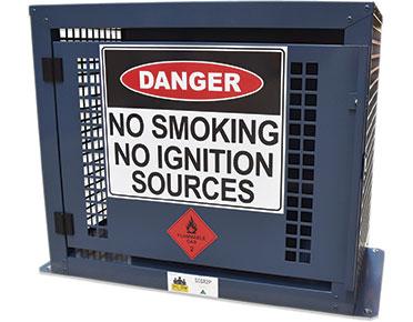9kg-LPG dangerous goods storage cage-–-2x-BBQ-bottles