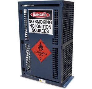 9kg-LPG- dangerous goods storage cage-–-4x-BBQ-bottles