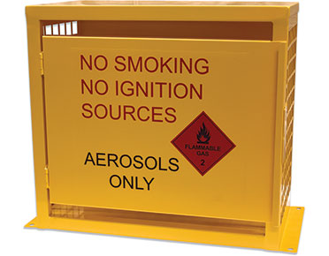 Aerosol flammables cabinet-–-12-can