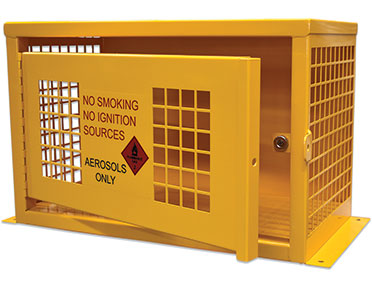 Aerosol dangerous goods storage Cage - 32 Can