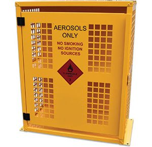 Aerosol chemical storage cabinet - 64 Can
