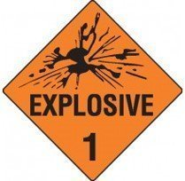 Class 1 Dangerous Goods Warning Triangle