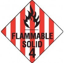 Class 4.1 Dangerous Goods Warning Triangle