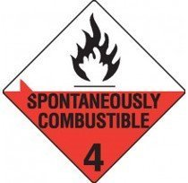 Class 4.2 Dangerous Goods Warning Triangle