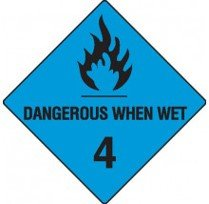 Class 4.3 Dangerous Goods Warning Triangle