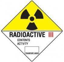 Class 7.3 Dangerous Goods Warning Triangle