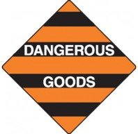 Mixed Dangerous Goods Warning Triangle