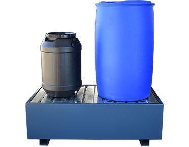 Drum bund powder coated steel – two drum