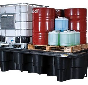 Double-IBC-containment-bunded pallet bunds-–-polyethylene