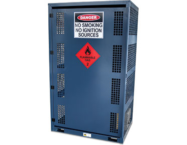 chemical storage cabinet-–-12x-cylinders