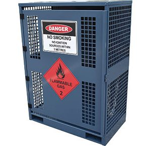 Forklift dangerous goods storage-–-2x-cylinders