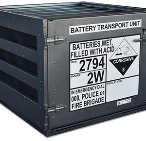 Transportable battery storage cabinet 145L