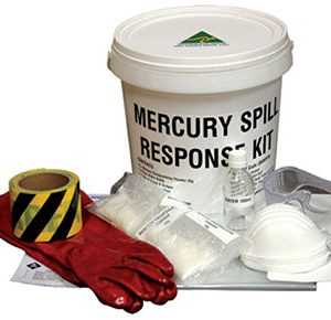 Mercury spill response kit - 10 small spills