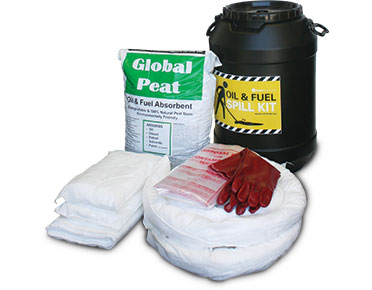 Oil & Fuel Barrel Spill Kits - 75L absorbent capacity