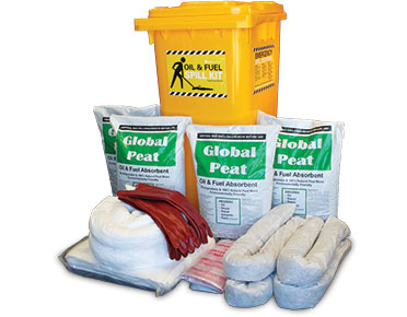 Oil & Fuel Outdoor Spill Kits - Economy plus 235L absorbent capacity