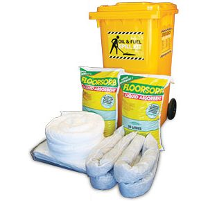 Oil & Fuel Indoor Spill Kits - Economy 168L absorbent capacity