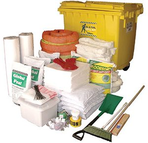 Oil & Fuel Outdoor Spill Kits - Large mobile bin 1,270L absorbent capacity