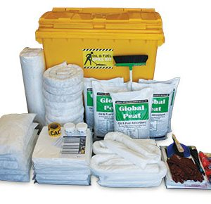 Oil & Fuel Outdoor Spill Kits - Large mobile bin 770L absorbent capacity