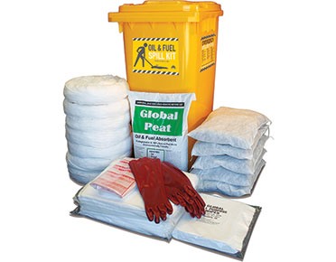 Oil & Fuel Outdoor Spill Kits - High performance 330L absorbent capacity