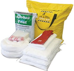 Oil & Fuel Truck Bag Spill Kits with Global Peat - 122L absorbent capacity