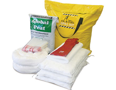 Oil & Fuel Truck Bag Spill Kit with Global Peat - 122L absorbent capacity