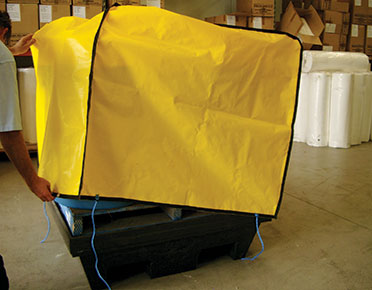 Canvacon cover for polyethylene 2 Drum bund