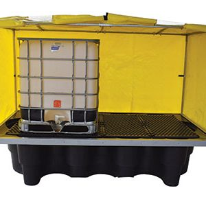 Double IBC containment bund – steel frame canvacon cover