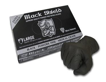 BLACK SHIELD Extra Heavy Duty Nitrile Gloves