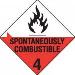 Substances liable to spontaneous combustion