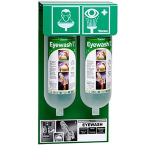 Eyewash Wall Stand- 2 x 1L bottles